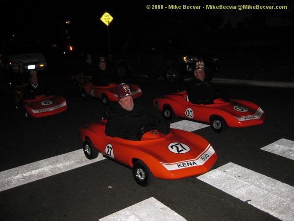 one of the groups before us the kena shriners in their mini race cars for the vienna halloween parade - Vienna Va Halloween Parade